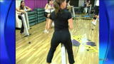 Marysol Castro, Andrea Canning - Good Morning America GMA - On a PogoStick. - VideoClip