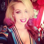 Skye Sweetnam - Celebrating Her 25th Birthday In A Short Multicolored Dress - Instagram Pics & Twitter Pic - May 11, 2013 (Cleavage, Legs) (2xMQ, 1xLQ
