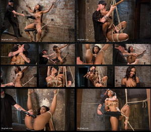 HOGTIED: Jun 09, 2016 - The Pope and Chanell Heart/Ebony Bondage Princess Captured and Tormented!!
