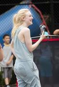 "Dakota Fanning on the Set of ""Very Good Girls"" in Manhattan 07/03/12"