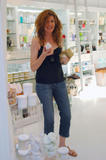 Рене Руссо, фото 55. Rene Russo shopping at the Marie Mason Apothecary in Brentwood, August 29., foto 55